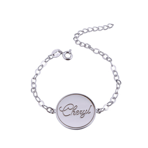 Sterling Silver Stamp Name Bracelet - ABC Necklace