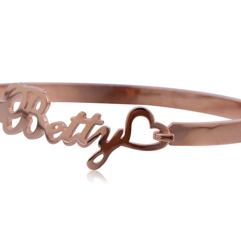 Rose Gold Plated Name Bracelet - ABC Necklace