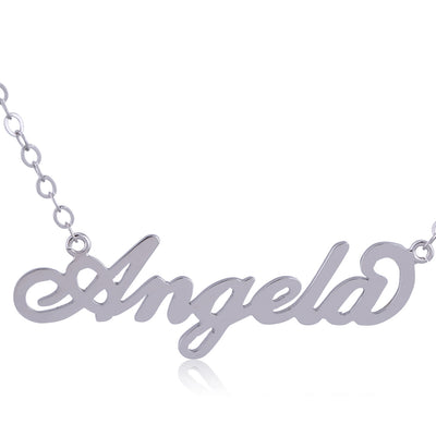 Sterling Silver Angela Name Necklace - ABC Necklace