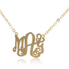 24K Gold Plated Monogram Necklace - ABC Necklace