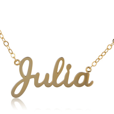 24K Gold Plated Julia Name Necklace - ABC Necklace