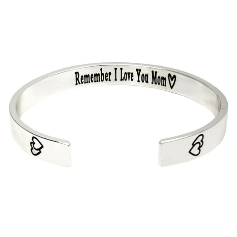 Remember I Love You Mom Mother's Day Gift Stainless Steel Bracelet - ABC Necklace