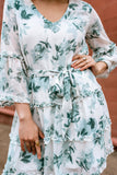 Sage Ruffle Tea Party Dress
