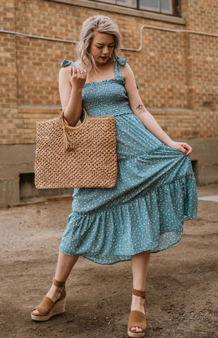 Vintage Blue Pebbles Dress