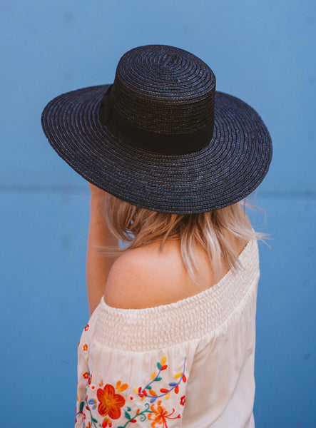 Pixie Straw Hat Black