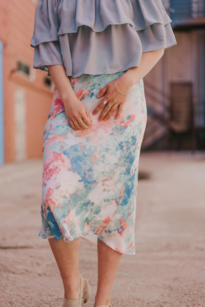 Cotton Candy Clouds Skirt