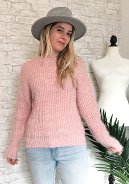 Pink Cotton Candy Sweater