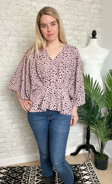 Layered Petals Rose Dot Top