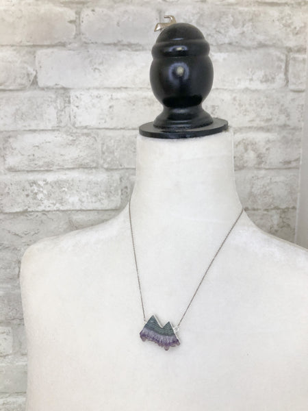 Gemstone Mountain Necklace Silver
