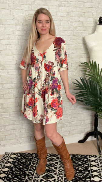 Rose Garden Dress Cream