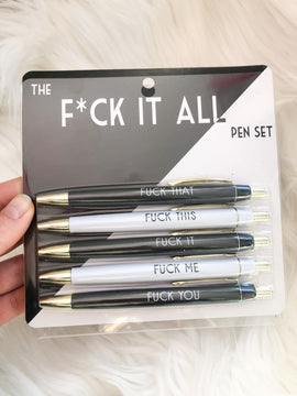 Fuck It All Pen Set