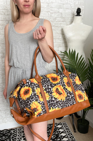Sunflower Fields Weekender Bag