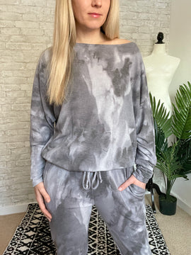 Grey Clouds Lounge Set Top