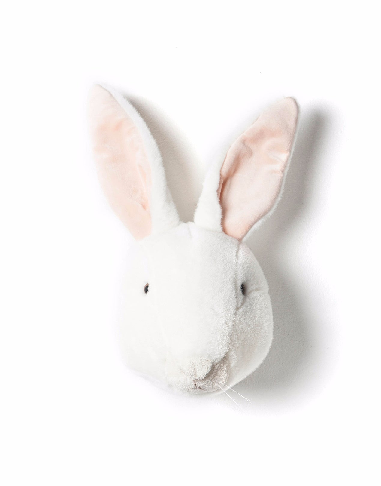 Wild & Soft Plush Animal Head Alice The White Rabbit