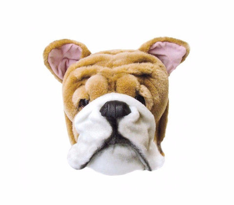 Wild & Soft Plush Animal Head Matthew The English Bulldog