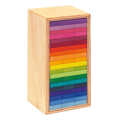 Gluckskafer - Rainbow Building Slats in Tower 60pc - The Little Interior