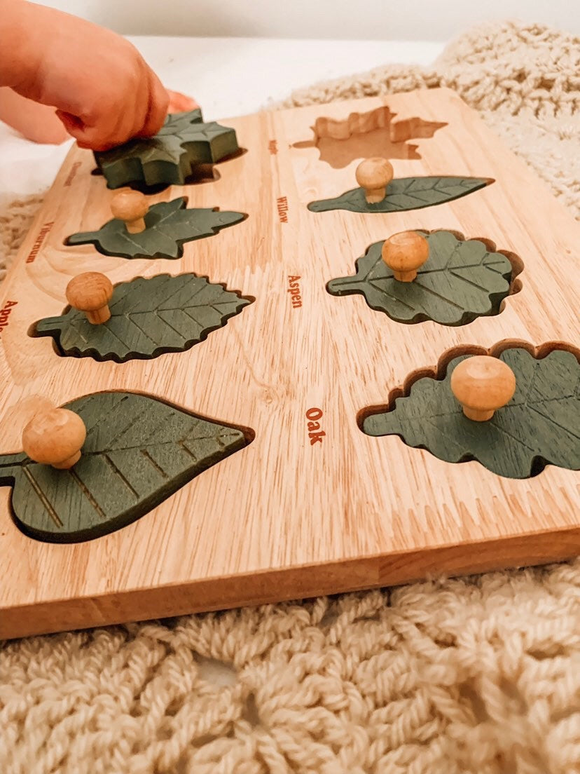 Montessori Leaf Puzzle - The Little Interior