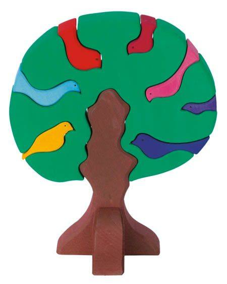 Gluckskafer Bird Tree - Dark Green - The Little Interior