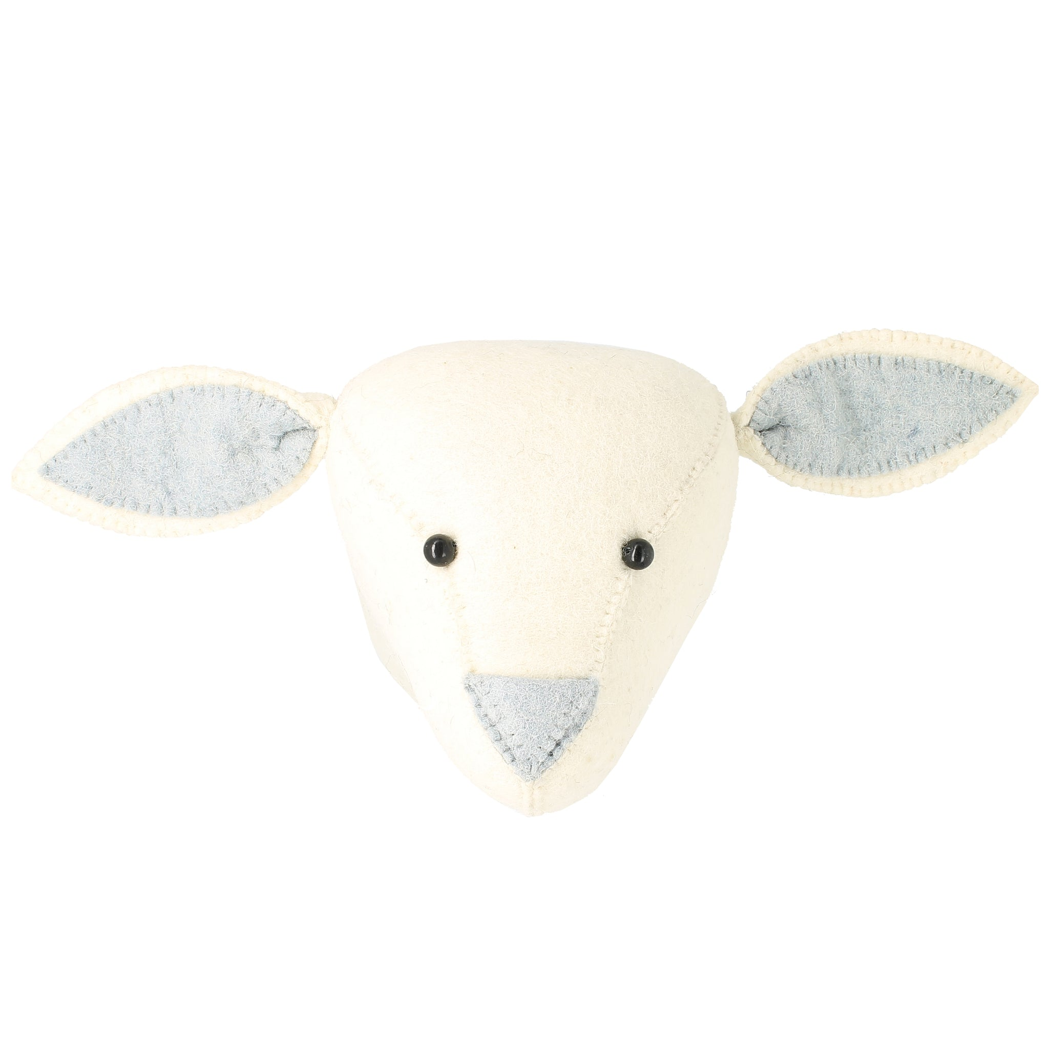 Fiona Walker Lamb Animal Head Silver - The Little Interior