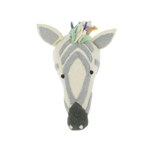 Fiona Walker Pastel Zebra Animal Head