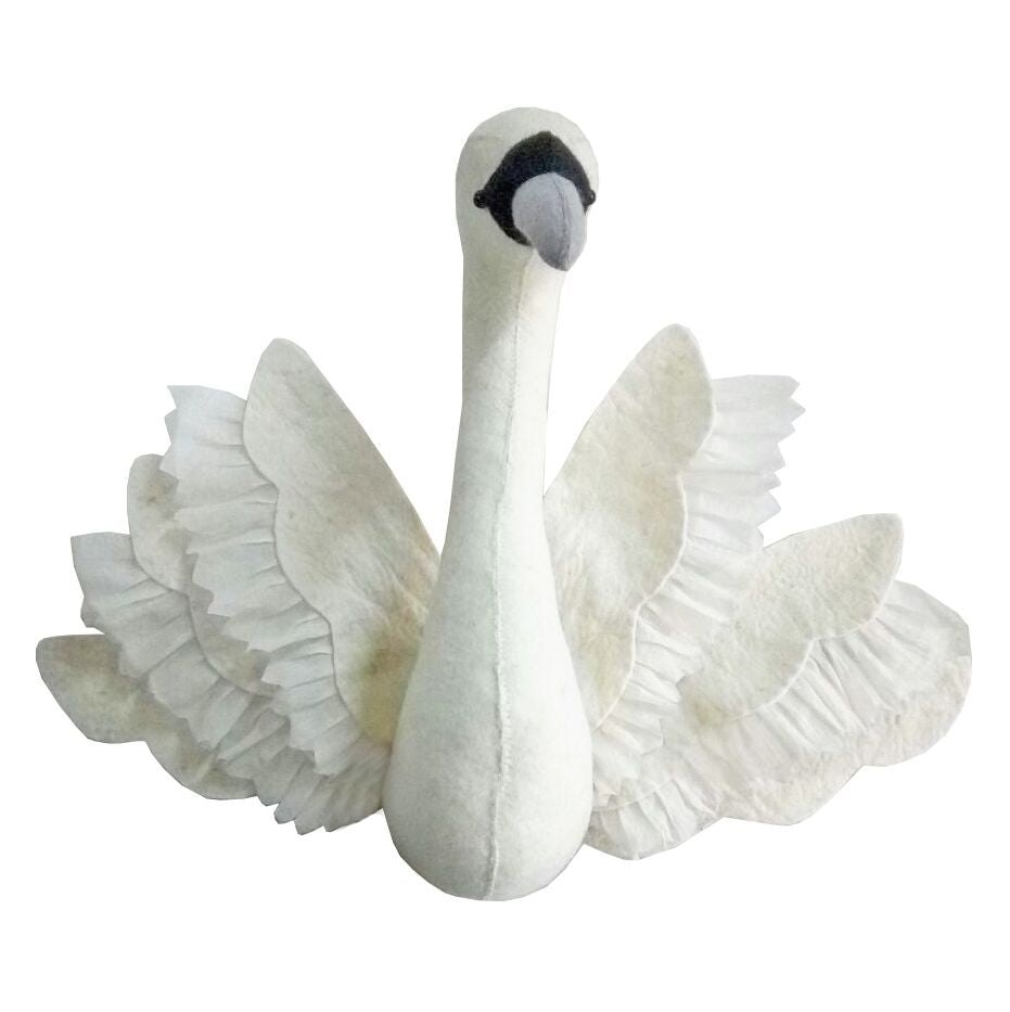Fiona Walker Swan with wings Animal Head - The Little Interior