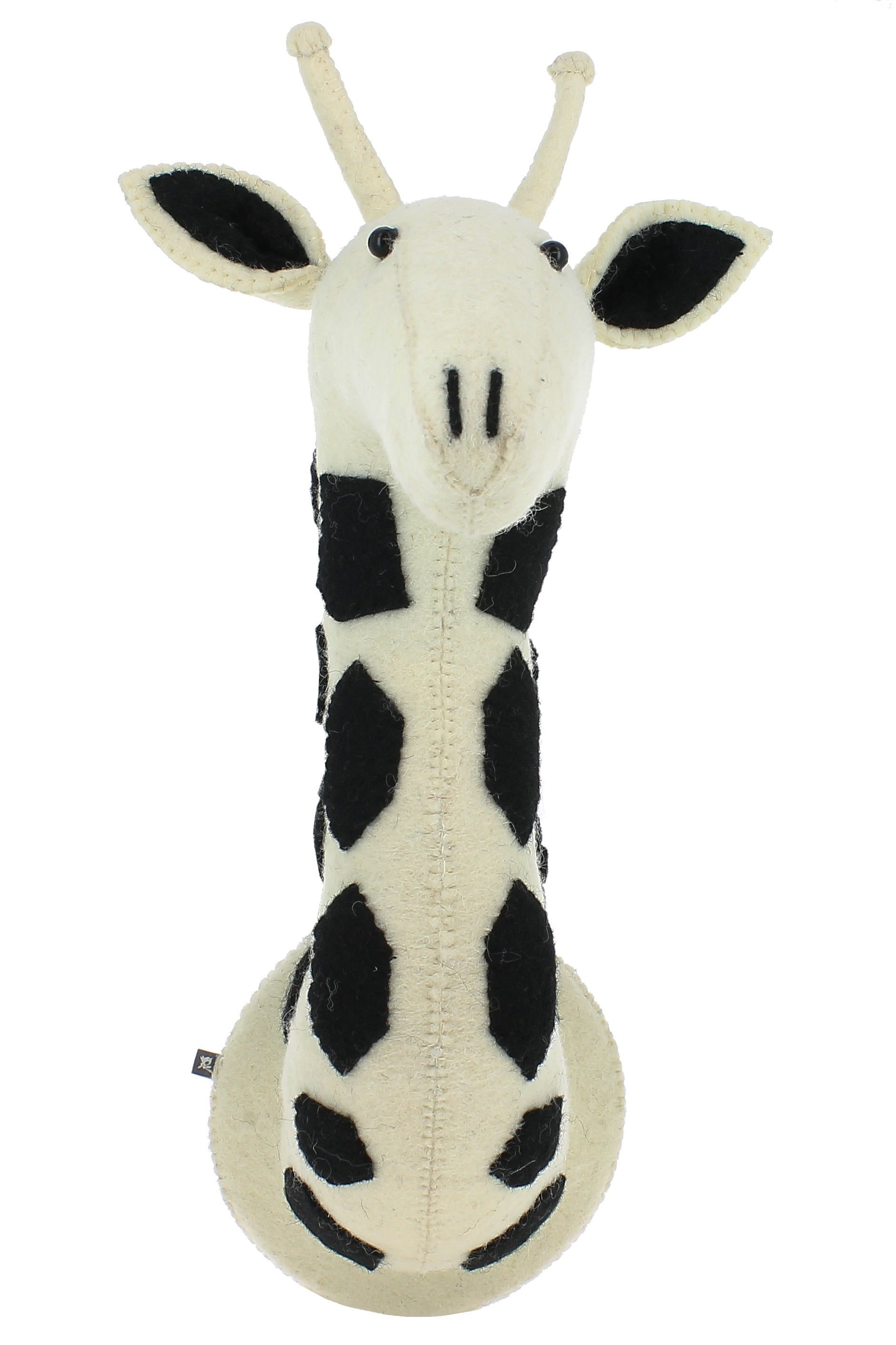Fiona Walker Black & White Giraffe Semi Animal head - The Little Interior