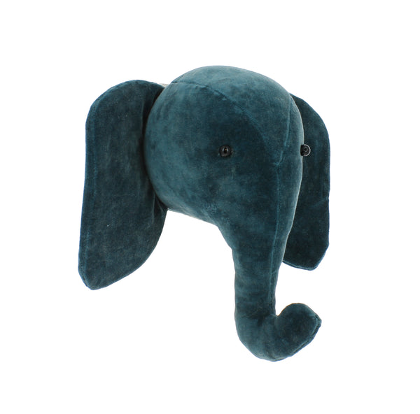 Mini Fiona Walker Velvet Elephant Teal - The Little Interior