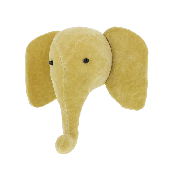 Mini Fiona Walker Velvet Elephant Yellow - The Little Interior