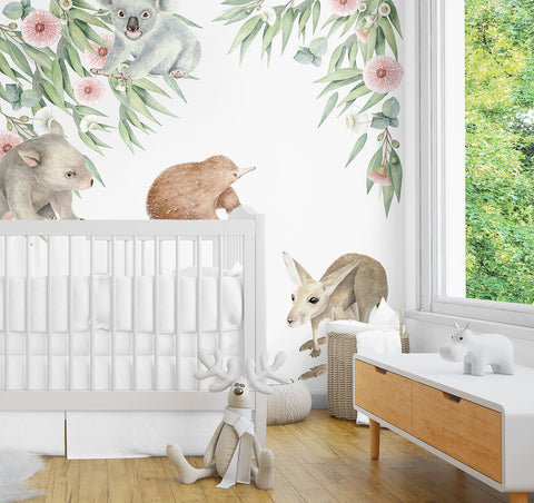 Ginger Monkey Aussie Baby Animals & Gum Tree Decal Set ((PRE ORDER EARLY OCT) - The Little Interior
