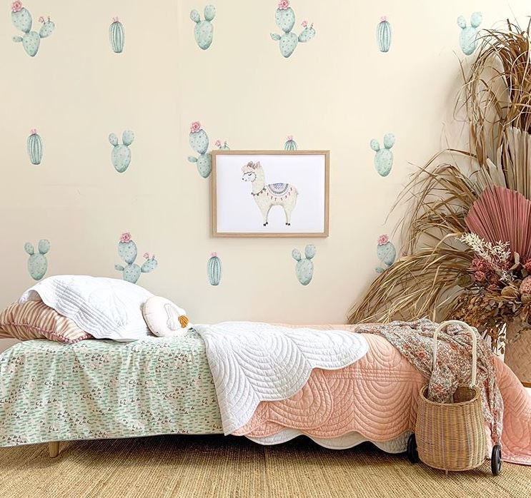 Saliah Lane Cactus Flowering Wall Stickers - The Little Interior