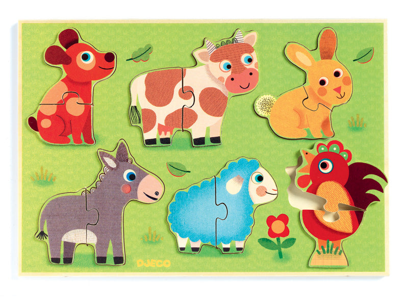 Coucou Cow Wooden Puzzle