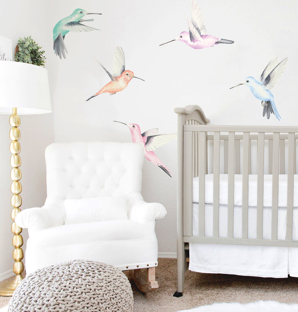 Ginger Monkey Watercolour Hummingbirds (PRE ORDER MARCH) - The Little Interior