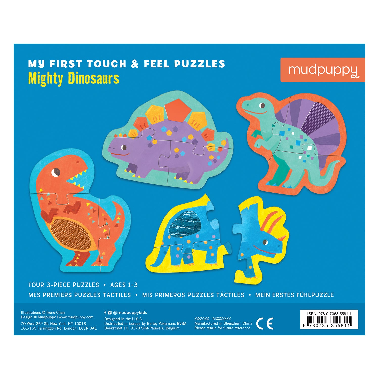 Mudpuppy - My First Touch & Feel Puzzle -Mighty Dinosaurs