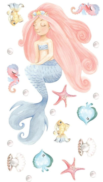 Mermaid Princess Wall Decal Set (PRE ORDER END MARCH) - The Little Interior