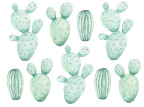 Cactus Wall Stickers - The Little Interior