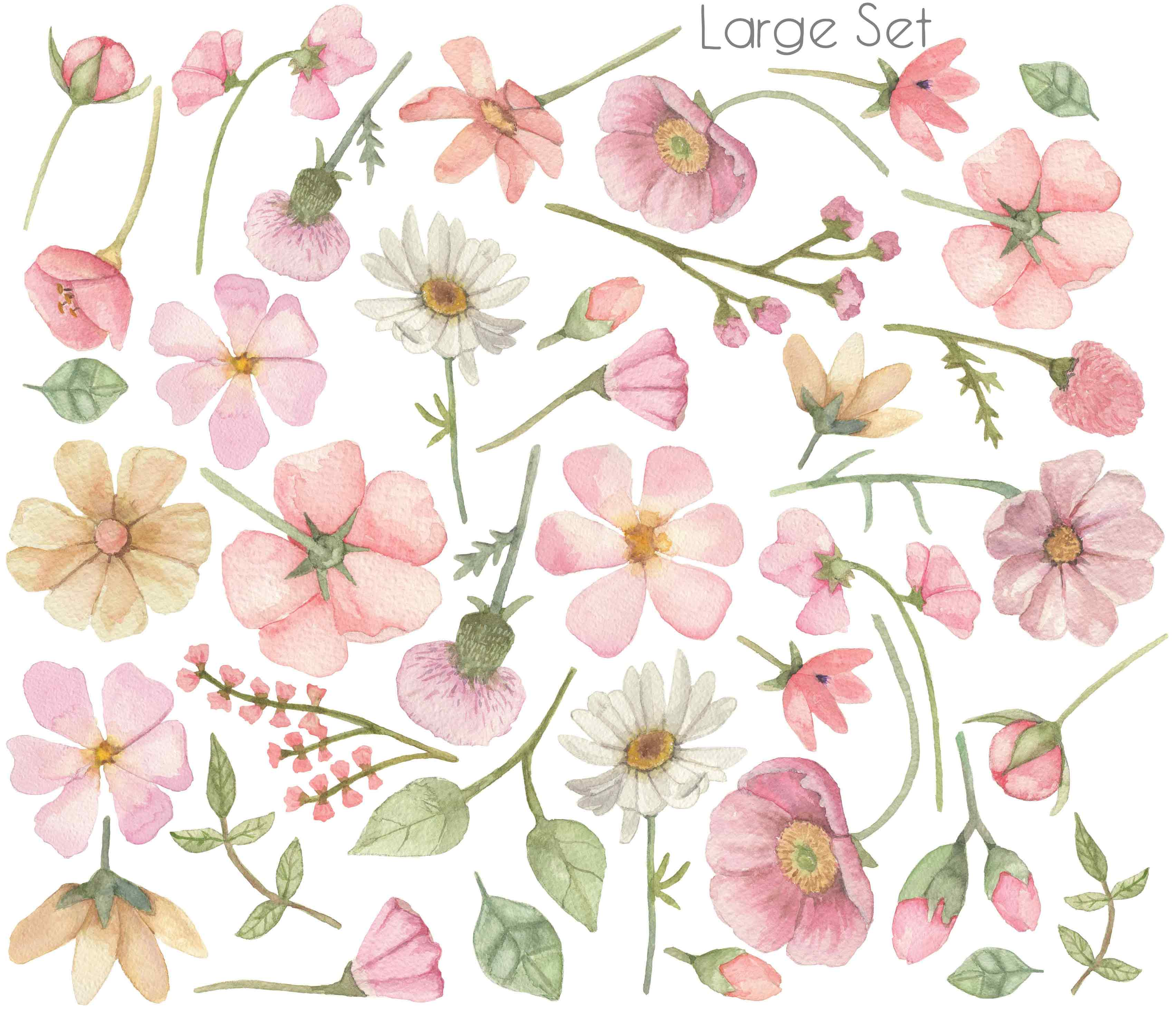 Falling Flowers Wall Stickers - The Little Interior