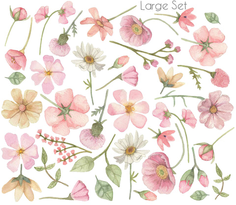 Saliah Lane Falling Flowers Wall Stickers - The Little Interior