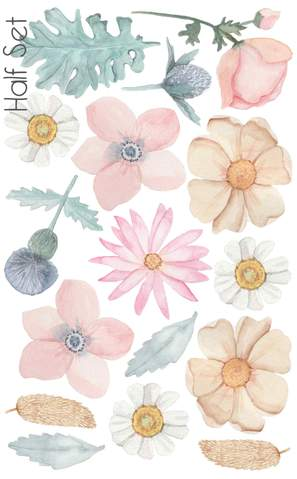 Dusty Bouquet Wall Stickers - The Little Interior