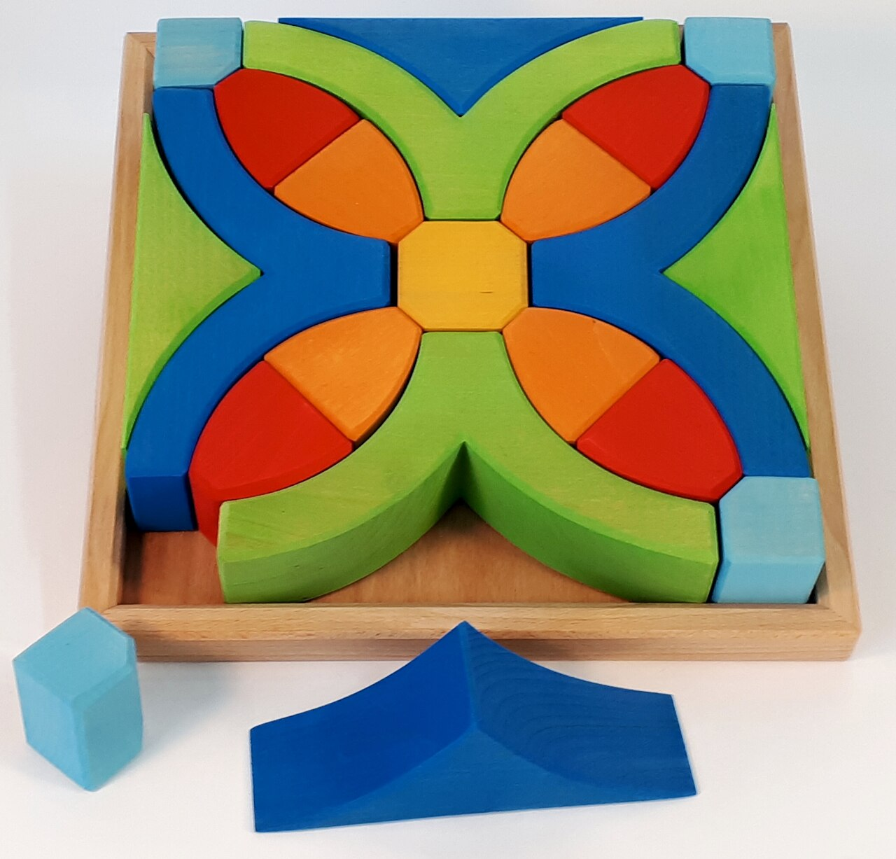 Bauspiel -Y Puzzle Wooden Block Set