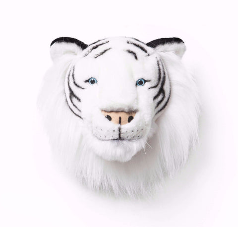 Wild & Soft Plush Animal Head Albert The White Tiger