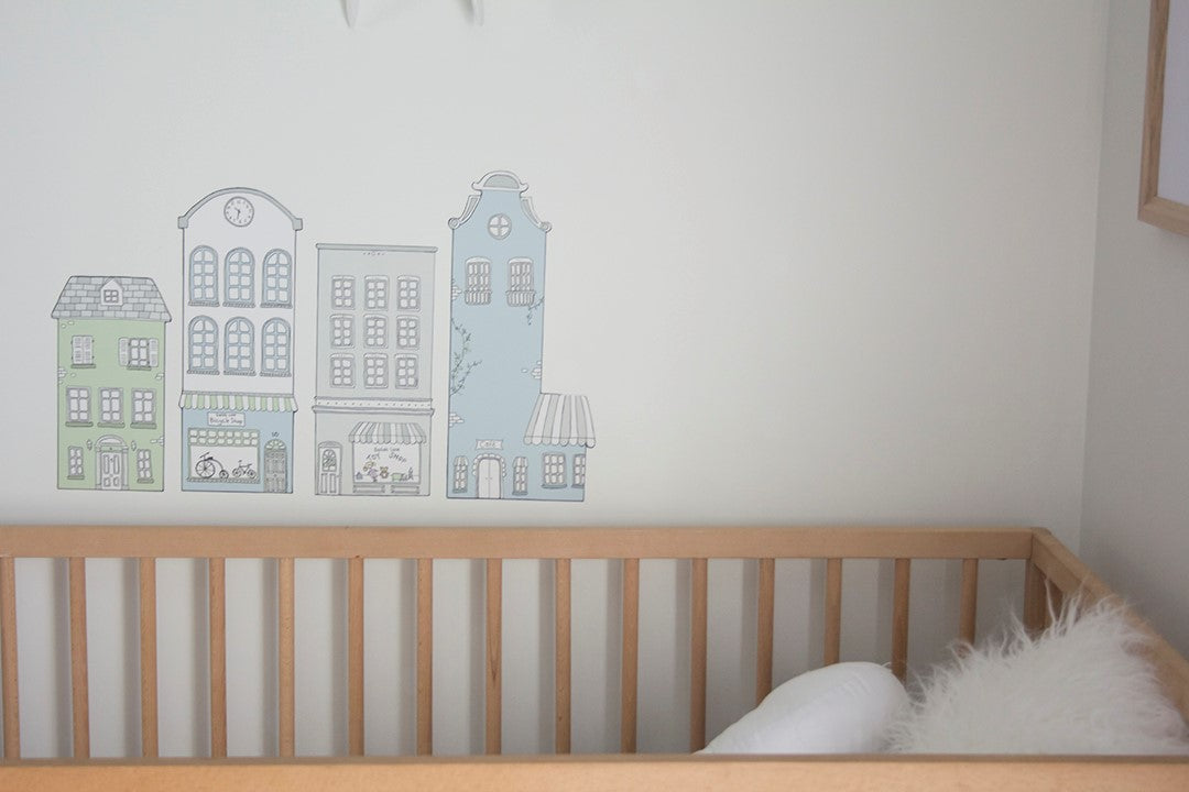 Little Sailah Lane Wall Stickers - Blue Set - The Little Interior