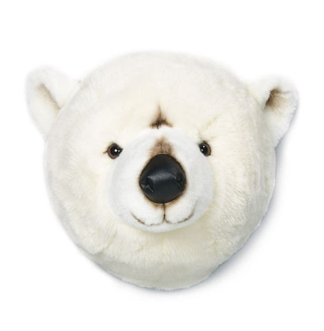 Wild & Soft Plush Animal Head Basile The Polar Bear