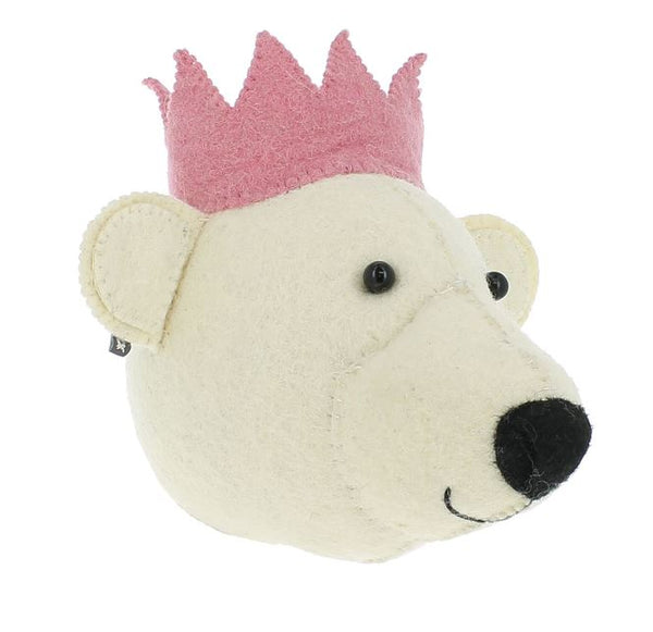 Mini Fiona Walker Bear with Pink Crown - The Little Interior