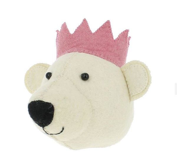 Mini Fiona Walker Bear with Pink Crown