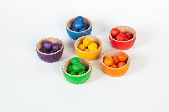 Grapat Coloured Bowls and Marble Set