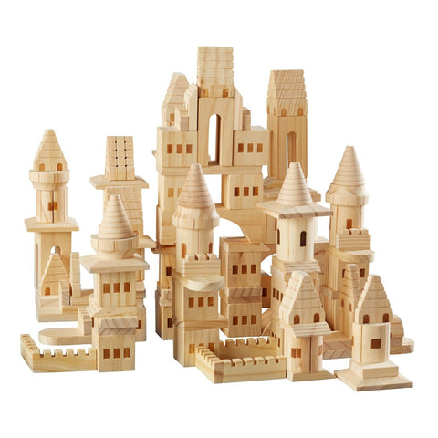 Fao Schwarz Wooden Castle Blocks - 75 Piece - The Little Interior
