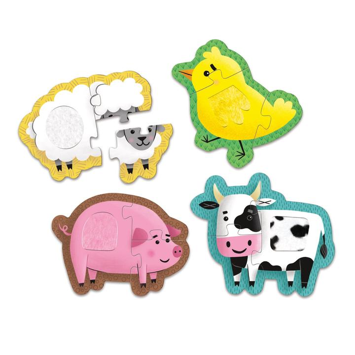 Mudpuppy - My First Touch & Feel Puzzle - Farm Animals - The Little Interior