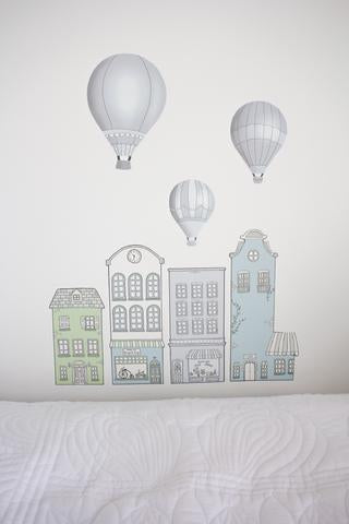 Balloon Wall Stickers Grey - The Little Interior