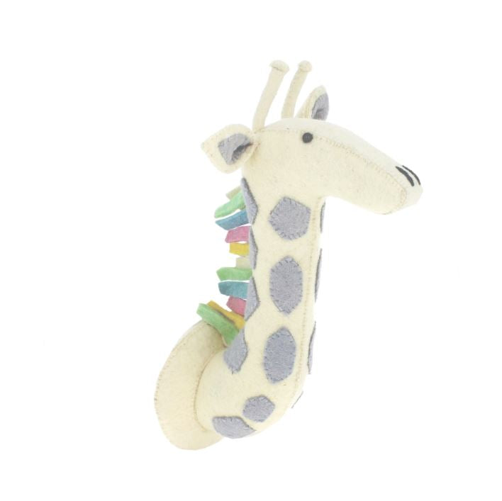 Fiona Walker Pastel Giraffe Animal Head - The Little Interior