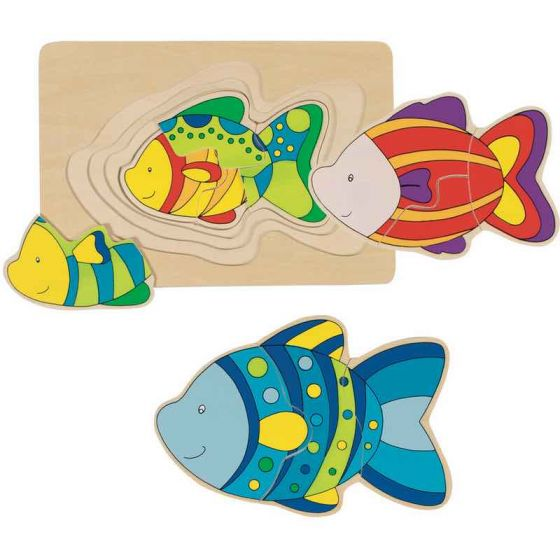 Goki Layered Fish Puzzle